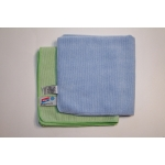 2 multi purpose dusters blue/green