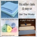 The Works - mop set & 8 cloths