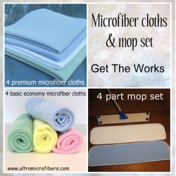 SOLD OUT - The Works - mop set & 8 cloths